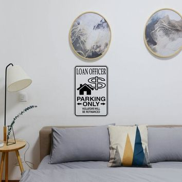 Laon Officer Parking Only Sign Vinyl Wall Decal - Removable (Indoor)