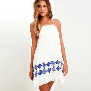 Fashion Backless Print Chiffon Sleeveless Strap Mini Dress
