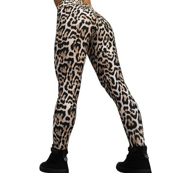 CHRLEISURE Sexy Leopard Print Leggings Women Female Jeggings Digital Printed Leggings Femme S-XL