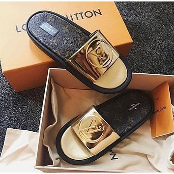 LOUIS VUITTON LV: Fashionable casual slippers