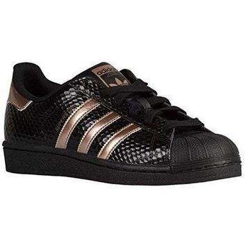 DCCKBWS Adidas Women's Superstar Casual Shoes 9 M US Copper Rose Gold Black