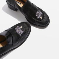 KRAYON Embroidered Loafers   Topshop