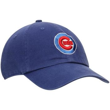 5a3fe445bc0 Chicago Cubs Royal Bullseye Clean Up Adjustable Slouch Hat