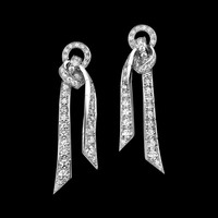 White gold Diamond Earrings G38L8600 - Piaget Luxury Jewelry Online