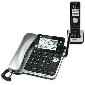 6.0 Expandable Corded/Cordless Phone with Answering System & Caller ID