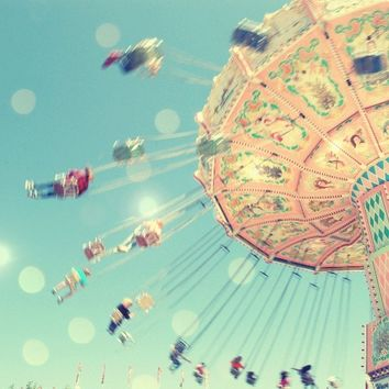 Carnival Photography, Baby Room Decor, Carnival Ride, Pastel Baby Room, Nursery Wall Art, Bokeh Photography print