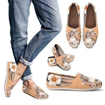 Floral Kitten Casual Shoes-Clearance