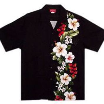 paradise black boy hawaiian shirt