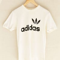 Vintage White adidas Sporty Tee - Urban Outfitters