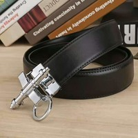 GIVENCHY  Woman Fashion Smooth Buckle Belt Leather Belt H-A-GFPDPF