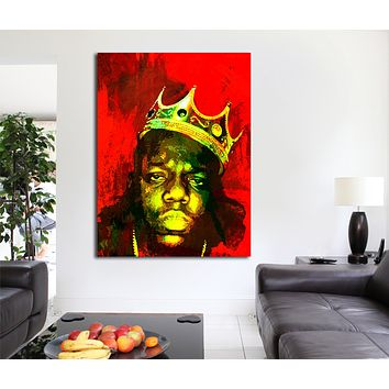 Biggie Smalls Luke Cage Inspired Framed Wall Art Canvas The Notorious B.I.G.