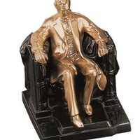 Brass Bookends | Lincoln in Chair Bookends