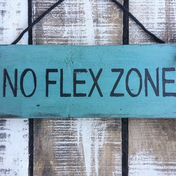 No Flex Zone. Funny Gift. Teenage Boys Gift. Gift For Boys. Boys Room Decor.