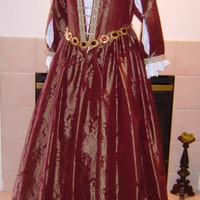 CUSTOM Renaissance Venetian Courtesan Costume Gown Dress