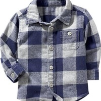 Old Navy Plaid Flannel Shirt For Baby