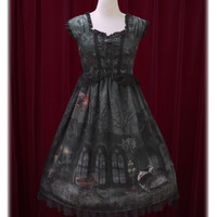 Vampire Nocturne柄ジャンパースカートⅡ/Vampire Nocturne jumper skirt Ⅱ | BABY,THE STARS SHINE BRIGHT