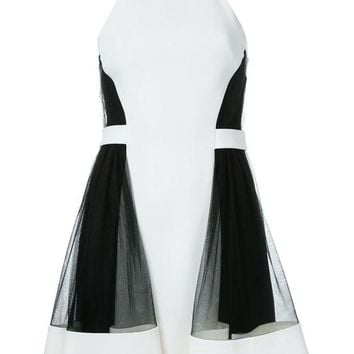 DCCKIN3 David Koma Side Tulle Ruffle Dress