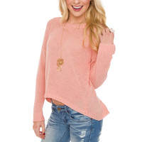 Joleen Knit Top - Peach