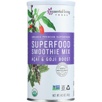 Essential Living Foods Smoothie Mix - Organic - Superfood - Acai And Goji Boost - 14.5 Oz - 1 Each