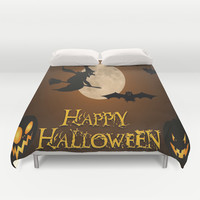 HAPPY HALLOWEEN Duvet Cover by Acus