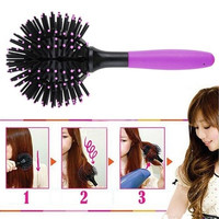 Round 360 Degree Ball Styling Bomb Curl 3D Hair Brushes Make-up Blow Drying Detangling Heat Resistant Hair Comb Styling Tools