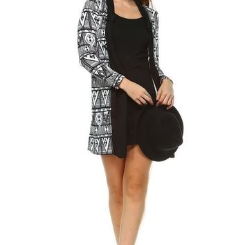 Women's Printed Dress with Attached Front Slip