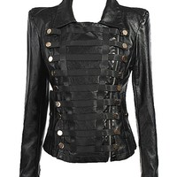 Balmain Style Slim Locomotive Jacket | Choies
