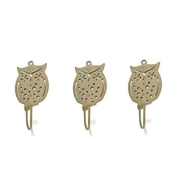 Wise Owl Metal Wall Hook | Light Gold