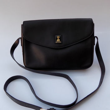 BURBERRY   Burberrys Black Leather Shoulder  Crossbody bag. British Designer  purse 856ccadbaa32f