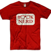 Book Nerd Men Women Ladies Funny Joke Geek Clothes T shirt Tee Gift Present