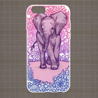 Elephant iPhone 4/4S, 5/5S, 5C Series Hard Plastic Case