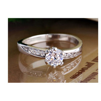 Custom Name Diamond Korean Promise Ring for Her