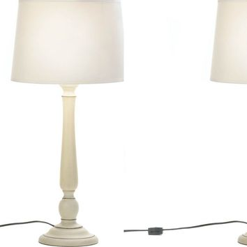 Set of 2 of Lux Ivory Table Lamps