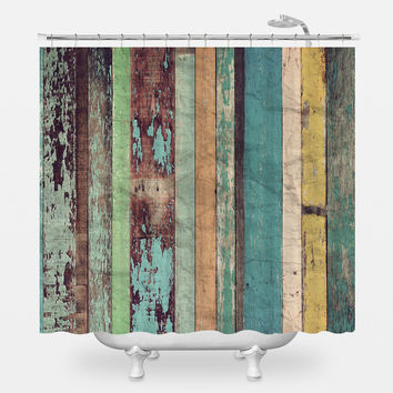 Distressed Panels Shower Curtain