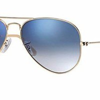 Cheap Ray Ban RB3025 001/3F 55M Gold/ Light Blue Gradient Aviator outlet