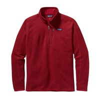Patagonia Men's Better Sweater® Quarter Zip Fleece | Classic Red
