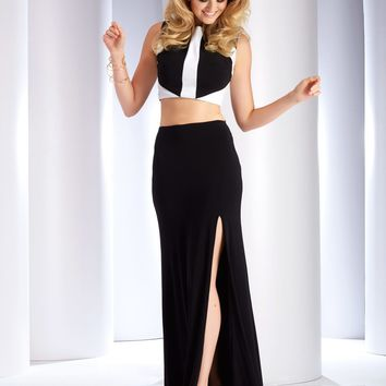 Clarisse - 2771 Two-Piece Two-Toned Evening Gown