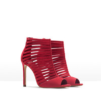 Multi-strap high heel sandal