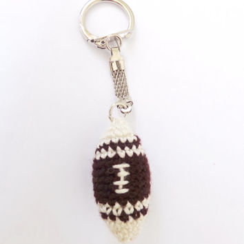 American Football Keychain - Crocheted Soft Charm 1pcs