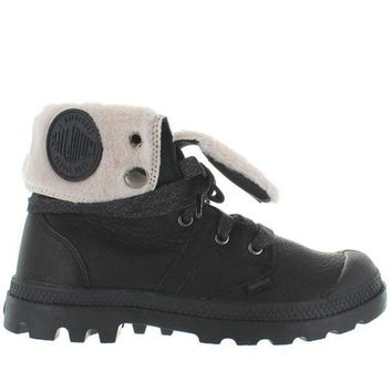 Palladium Pallabrouse Baggy   Watertproof Black Leather Fur Lined Boot