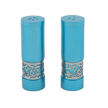 Salt & Pepper Shakers + Metal Cutout - Turquoise