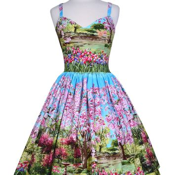 Georgia Dress in Cherry Tree Lane print