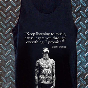 mike Adam Lucker best customized design for Tank top Mens and Tank top Girls , sizes S - XXL