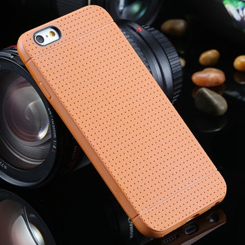Orange Fashion Honeycomb Dot Style Soft Silicone Phone Back Cover Case Shell For iPhone 6/6s 4.7 inch