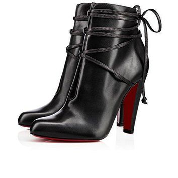 Christian louboutin Womens S I T Rain Ankle Boots Black (39 EU 7.5US 245mm)