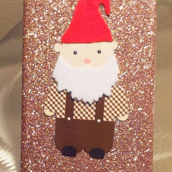 Gnome Glitter iPhone 4 4s Hard Cover Case by kaylafenton on Etsy