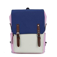 Simple Style Backpack Women Pu Leather Shoulder Bag For Teenage Girls School Bags Fashion Vintage