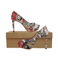 Las Vegas Icons - Gamblers Delight Women's High Heels (Model 044) | ID: D2177356
