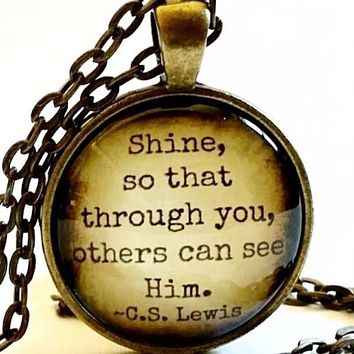C.S. Lewis Quote Necklace | Shine Quote