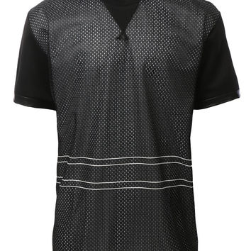 LE3NO Mens Active Short Sleeve Mesh Baseball Jersey (CLEARANCE)